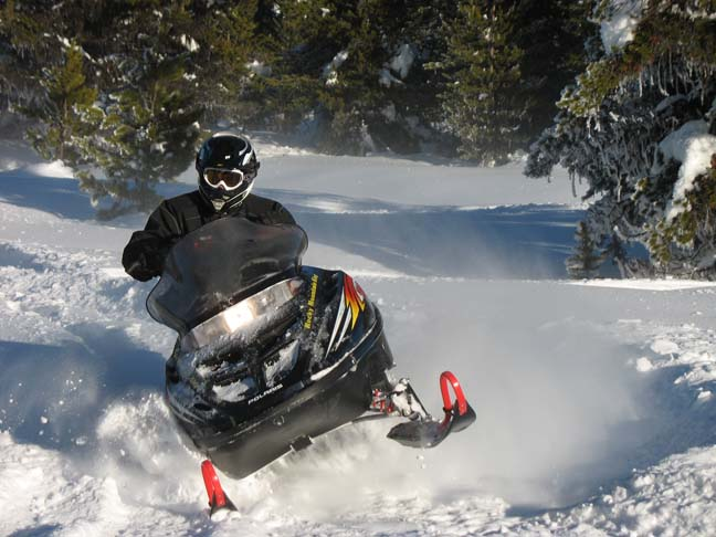 guided snowmobile rides & tours Idaho