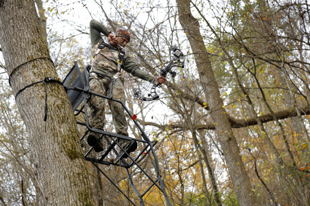 Hunter in Tree Stand