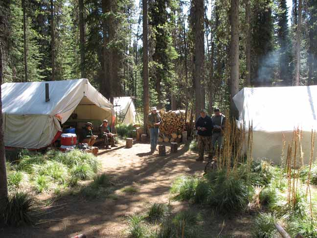 hunting campsite with Silver Spur Outfitters & Lodge